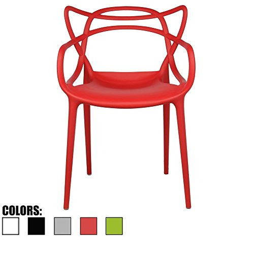 Price comparison product image 2xhome - Red Dining Room Chair - Modern Contemporary Designer Designed Popular Home Office Work Indoor Outdoor Armchair Living Family Room Kitchen Bed Bedroom Porch Patio