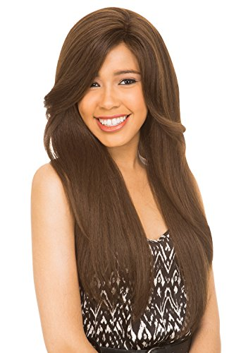 Price comparison product image [New Born Free] Magic Lace Front Wig - 4X4 Any Part Synthetic Lace Wig - MLA 64 (1B)