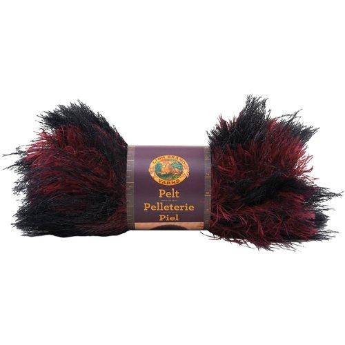 Lion Brand Yarn 321-200 Pelt Yarn, Red - Red Fur Fox Dyed