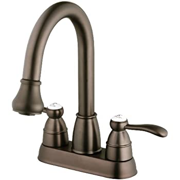 Pfister Petaluma 2 Handle Pull Down Kitchen Faucet With