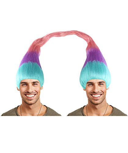 EXCLUSIVE! Troll Twin Wig (2 Wigs Included) Adult HM-178