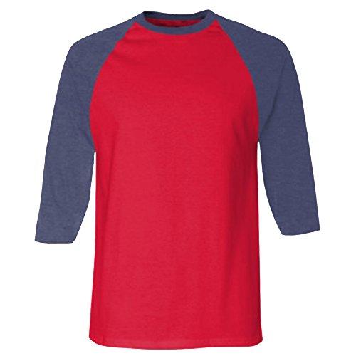 Marine shirt À Bleu Apparel T Homme 3 bleu Manches 4 American EtqvU8v