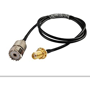 Amazon.com: RF coaxial cable SMA female to UHF SO239 PL259