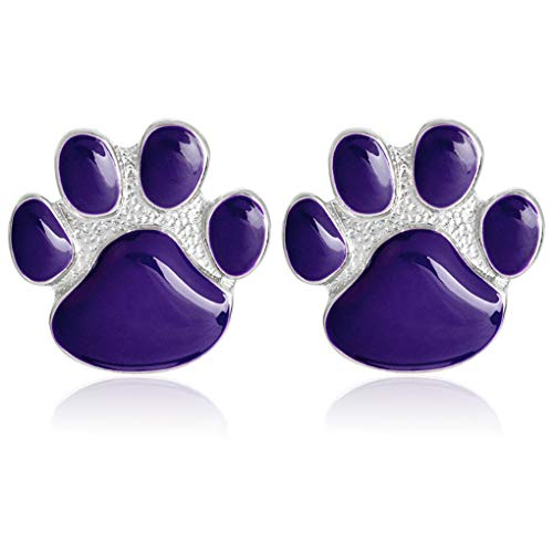 (Charmart Dog Paw Lapel Pin 2 Piece Set Purple Cat Kitten Paw Claw Enamel Brooch Pin Badges Gifts )