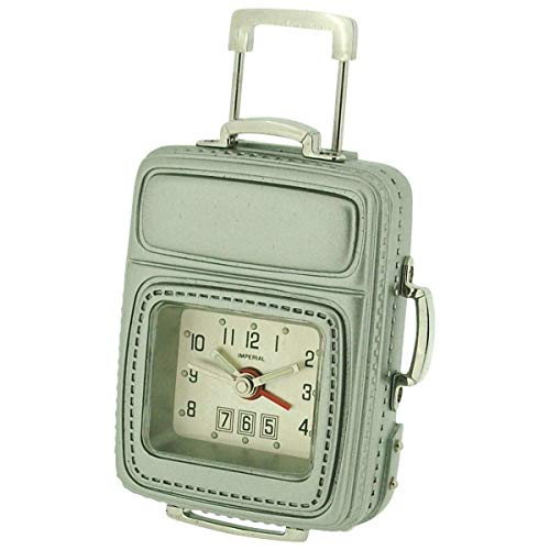 GTP Miniature Frequent Flyer Cabin Luggage & Alarm Novelty Collectors Clock IMP608