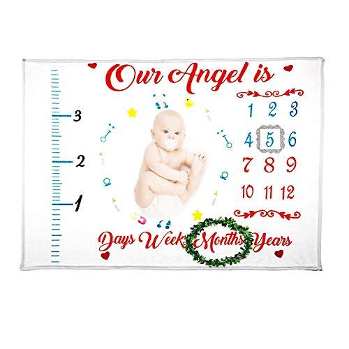 Baby Monthly Milestone Blanket:Milestone Blankets Boy And Girl /Large/