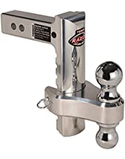 """Trimax TRZ8ALRP 8"""" Aluminum Adjustable Hitch with Dual Hitch Ball and Receiver Adjustment Pin"""