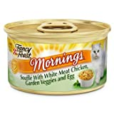 Fancy Feast Mornings Souffle with White Meat Chicken, Garden Veggies and Egg Gourmet Cat Food, Case of 24, My Pet Supplies