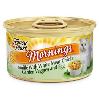 Fancy Feast Mornings Souffle - White Meat Chicken, Garden Veggies & Egg - 24x3oz