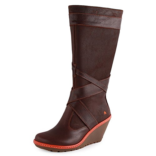 249 Leather Brown Art Zip Womens 35 Eu Boots 5 dqqwS4