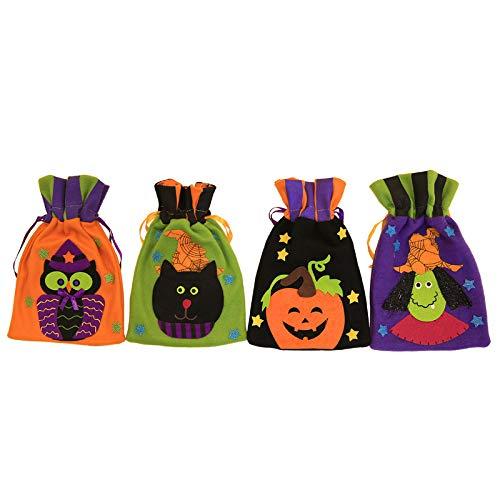 Weimay 1pcs bolsa de regalo de franela de halloween portátil con ...