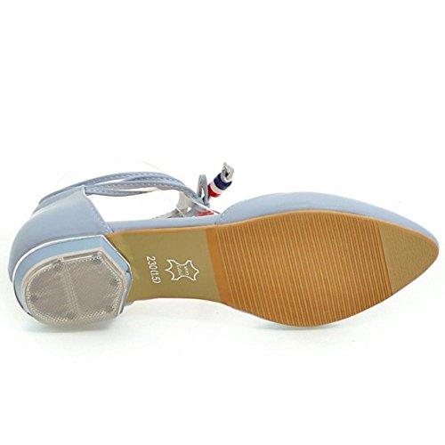 Summer Lace Women Blue Sandals TAOFFEN up 5HE10nHq