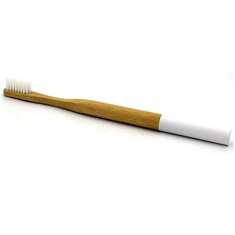 GEZICHTA Cepillo de Dientes de bambú, desechable, ecológico, Biodegradable, Mango de bambú