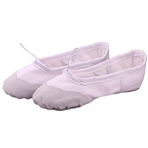 Lisianthus002 - Zapatillas de danza de Lona para niña Blanco - blanco