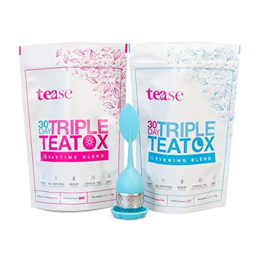 Tease Tea Organic Detox Treatment - 30 Day Triple Teatox Cleanse and Detox Kit