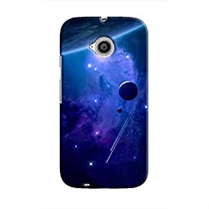 Cover It Up - Stars and Planets Blue Moto E2 Hard Case