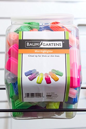 Baumgartens Mini Highlighters Hexagonal Tub Display of 90 Assorted Colors (79009) by Baumgartens (Image #2)