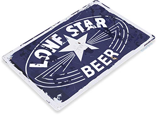 Tinworld Tin Sign Lone Star Beer Metal Sign Decor Old Bar Pub Beer Store Cave ()