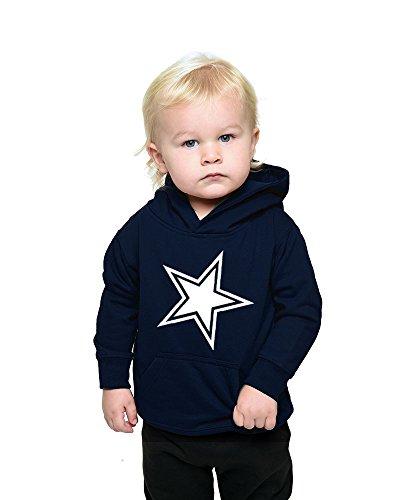 PandoraTees Infant Fleece Hoddie - Cowboys (18m, (Cowboy Kids Sweatshirt)
