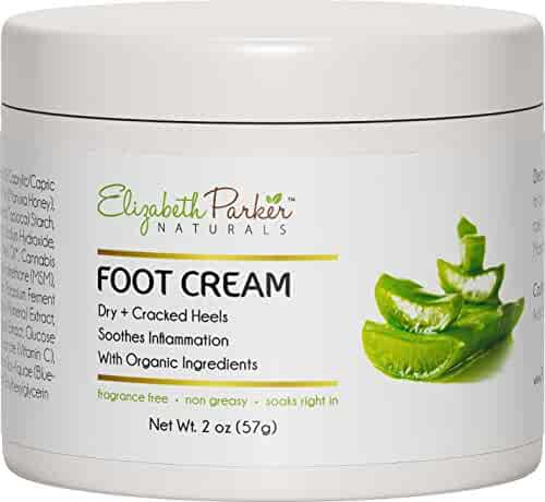 Foot Cream for Dry Cracked Heels and Feet - Anti Fungal for Athletes Foot - Best Foot Callus Remover for Men and Women - Fragrance Free and Non Greasy (2 oz)