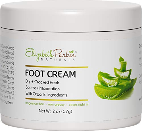 Foot Cream for Dry Cracked Feet and Heels - Anti Fungal Cream for Athletes Foot Treatment - Best Callus Remover for Feet with Shea Butter Aloe Vera & Coconut Oil - Fragrance Free & Non Greasy (2 oz) (Best Cream For Dry Heels)