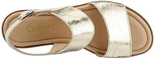 Gabor Shoes Fashion, Sandalias con Cuña para Mujer Beige (platino/beige 68)