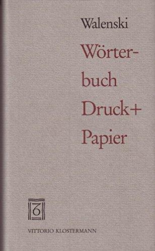 Wörterbuch Druck + Papier