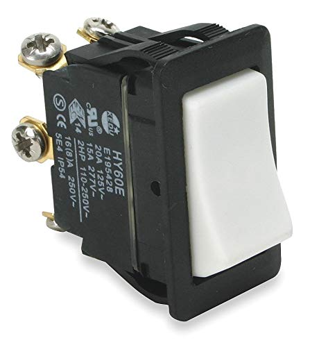 Power First Rocker Switch, Contact Form: DPDT, Number of Connections: 6, Terminals: Screw - 2LNJ4 ( Pack of 2 ) by Power First