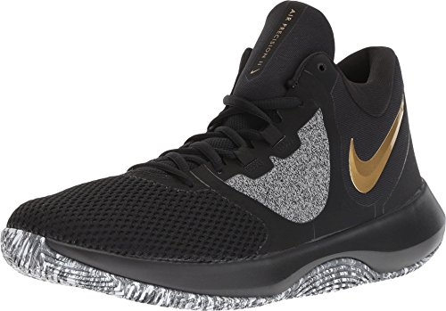 Nike Air Precision 2 Mens Basketball Shoes (9.5, Blk MTLC Gold Wht) (The Best Basketball Shoes Ever)