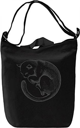 Sleeping kitty Borsa Giornaliera Canvas Canvas Day Bag| 100% Premium Cotton Canvas| DTG Printing|