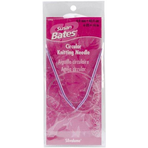 (Susan Bates 16-Inch Silvalume Circular Knitting Needle, 4mm)