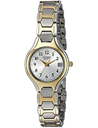 Womens Quartz Two-Tone Watch with Date, EU2254-51A · Citizen