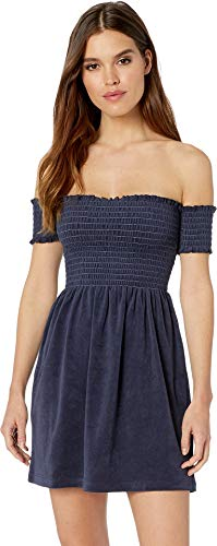 (Juicy Couture Women's Microterry Smocked Dress Regal Large)