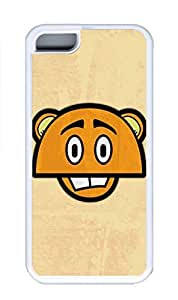 iPhone 5C Case, Personalized Custom Rubber TPU White Case for iphone 5C - Anime Tiger Cover