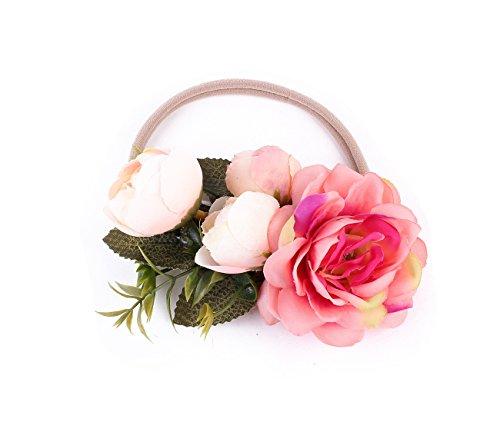 DDazzling Flower Baby and Newborn Girls Headband Floral Crown Photo Props