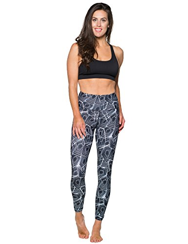 Delfin Spa Women's Luxe Mineral Infused ENERGIZING Leggings - Mystic Maze, Large