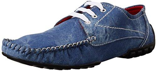 Steemo Men's Blue Boat Shoes - 8 UK/42 EU (STM1018)