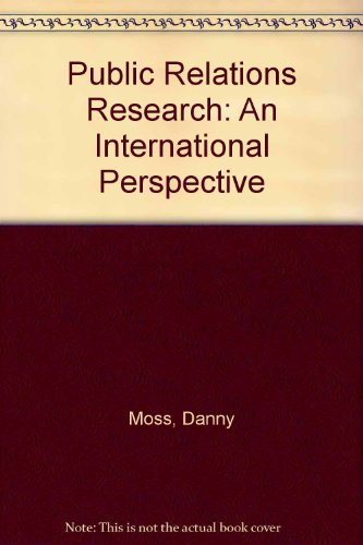 Public Relations Research: An International Perspective