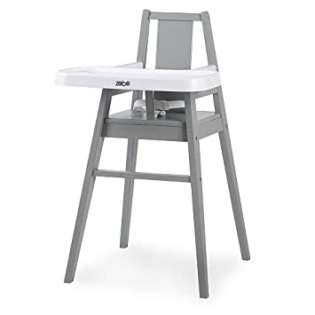 Amazon.com   Zobo Summit Wooden High Chair - Stone   Baby 6def1e106