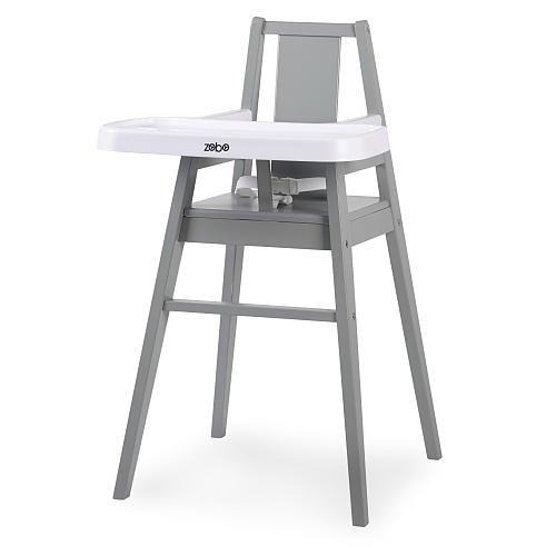 Wood High Chair (Zobo Summit Wooden High Chair - Stone)