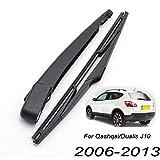 Nissan Qashqai Wiper Blades - Xukey Rear Windshield Wiper Blade & Arm Set Fit For Nissan Qashqai J10 2007 2008 2009 2010 2011 2012 2013 (1 set)