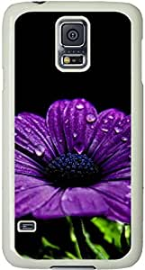 Flower Style Galaxy S5 Case, Galaxy S5 Cases - Compatible With Samsung Galaxy S5 SV i9600 - Samsung Galaxy S5 Case Durable Protective Case for White Cover