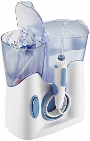 H2ofloss Water Dental Flosser 800ml Capacity With 12 Multifunctional Tips Countertop Dental Oral Irrigator FDA Approved (hf-8whisper)