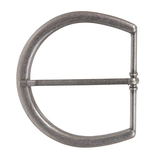 2 5/8''(65 mm) Single Prong Horseshoe Belt Buckle Color: Antique Silver from beltiscool