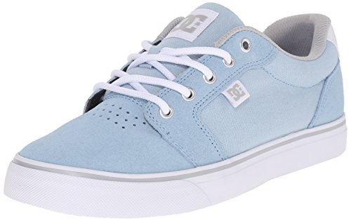 DC Women's Anvil Skate Shoe, Light Blue, 10 M US