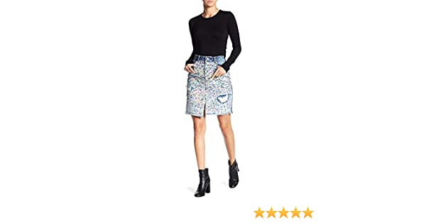 4f674871db6902 Mustard Seed Women's Distressed Sequin Denim Skirt, Small at Amazon Women's  Clothing store: