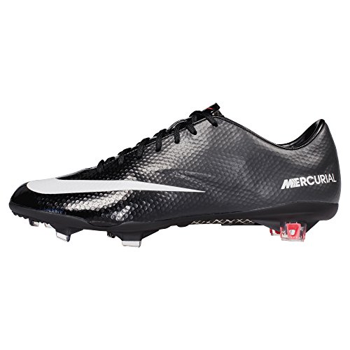 Nike Mercurial Vapour Ix Fg - (nero / Carbone Scuro / Atomico Rosso / Bianco) (7)