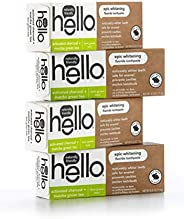 Hello Oral Care Activated Charcoal + Matcha Green Tea Epic Whitening Fluoride Toothpaste, Farm Grown Mint, 4.0
