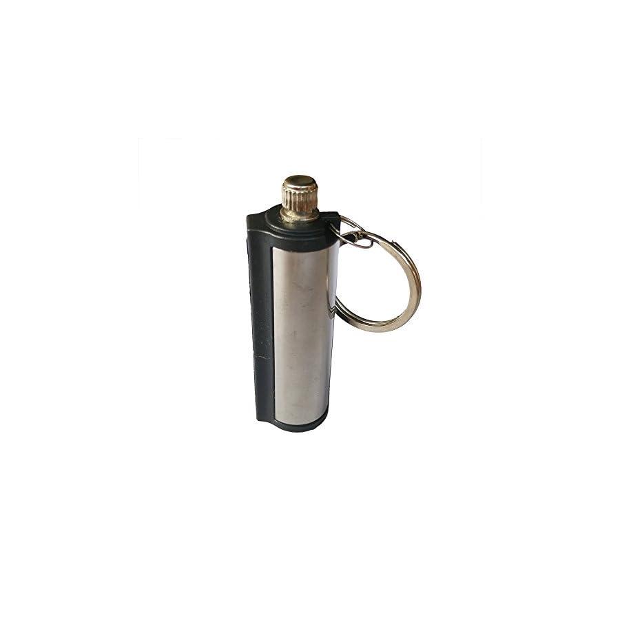 Yuauy 10 PCs Cylinder Fire Starter Emergency Hiking Survival Camping Flint Metal Match Lighter Matchbox Fire Startfor Camping Outdoor
