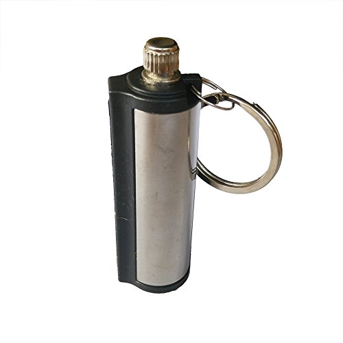Yuauy 10 PCs Cylinder Fire Starter Emergency Hiking Survival Camping Flint Metal Match Lighter Matchbox Fire Startfor Camping Outdoor